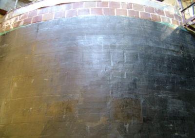 composite strengthening over brick tank