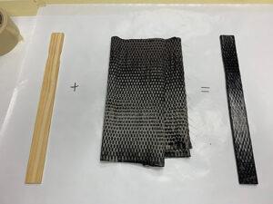 experiment covering a paint stick with carbon fiber reinforcement