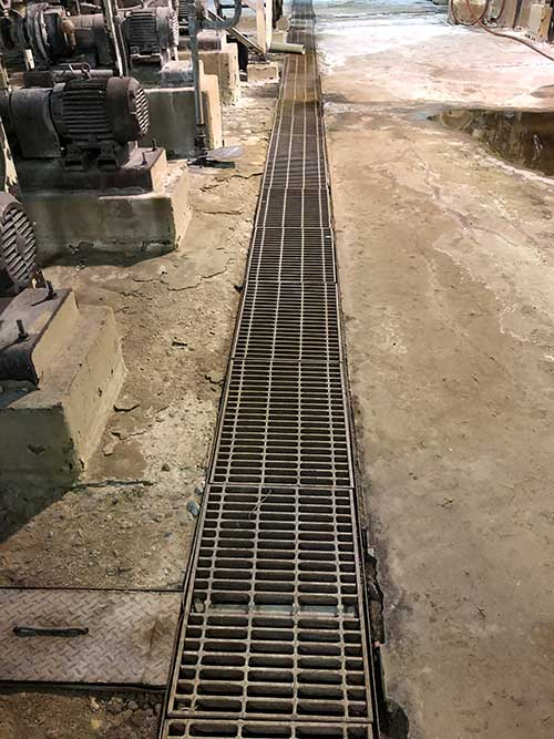 trench at power plant