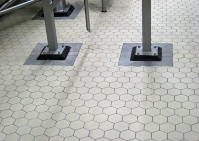 hexagon shaped vitrified tile flooring