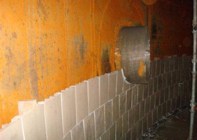 versichem tank tile installed around nozzle